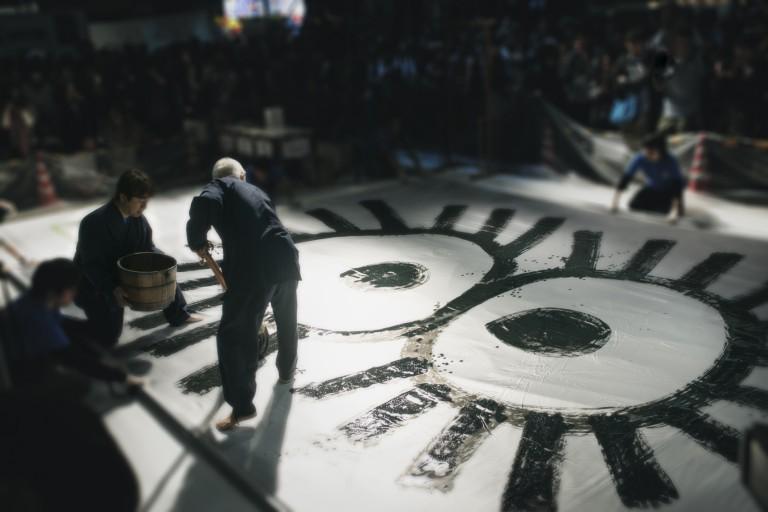 スタジオジブリ鈴木敏夫 言葉の魔法展 写真展示 /鈴木敏夫さん『大書』撮影