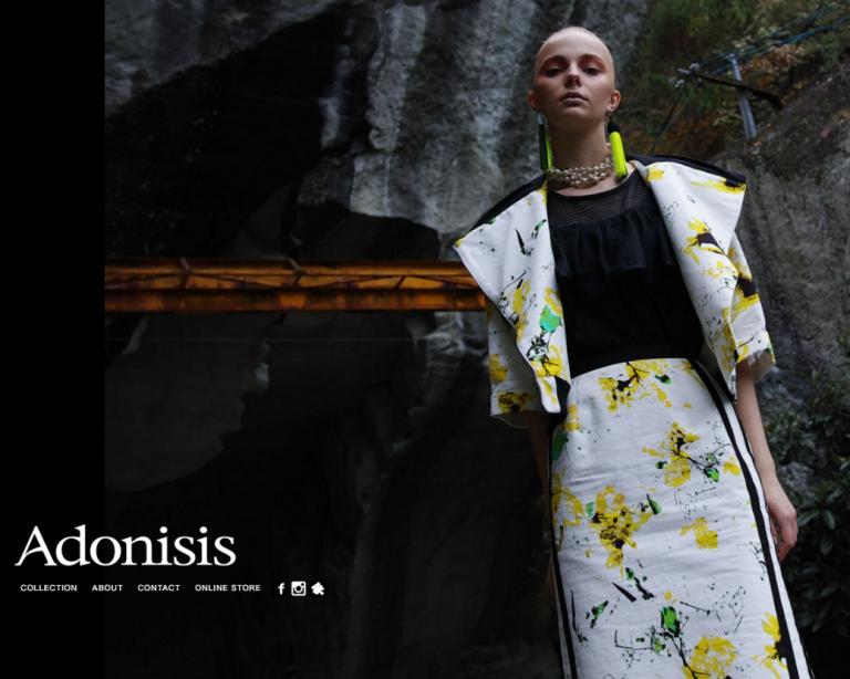 Adonisis 2018SS ビジュアル 撮影,