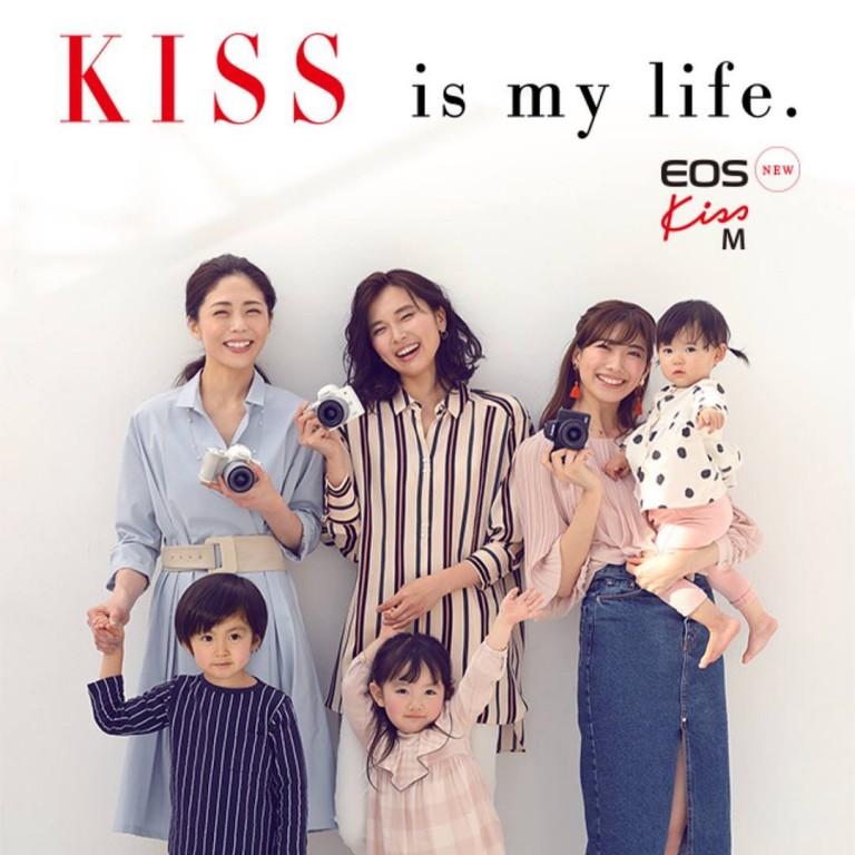 Canon Kiss M 発売!  メインビジュアル、カタログ撮影