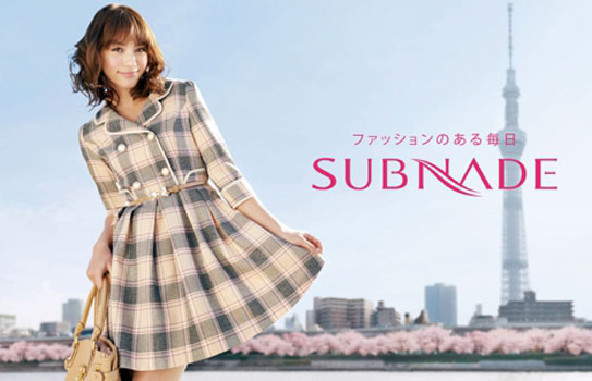 SUBNADE 2012 SPRING 広告撮影